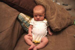Bebé infeliz